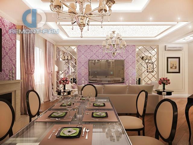 Элитный дизайн интерьера квартиры в Москве из нашего портфолио