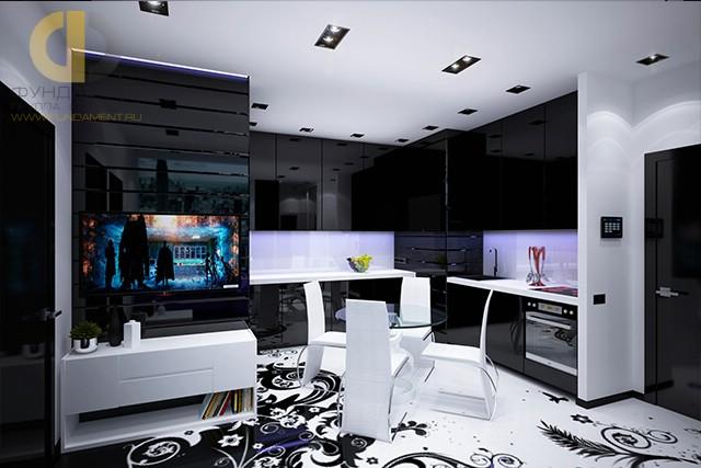 Стиль хай-тек в интерьере кухни в квартире