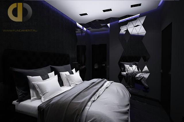 Стиль хай-тек в интерьере спальни в квартире