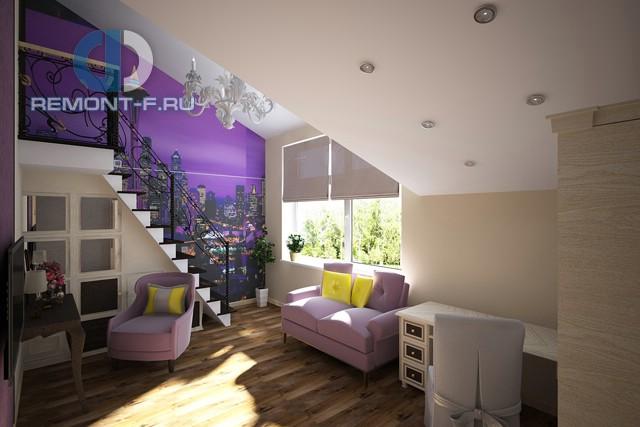 Стиль поп-арт в интерьере дома. Фото гостиной из портфолио студии