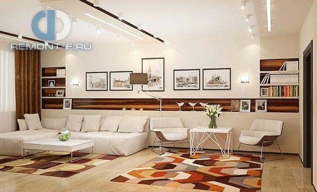 Стиль поп-арт в интерьере гостиной в квартире