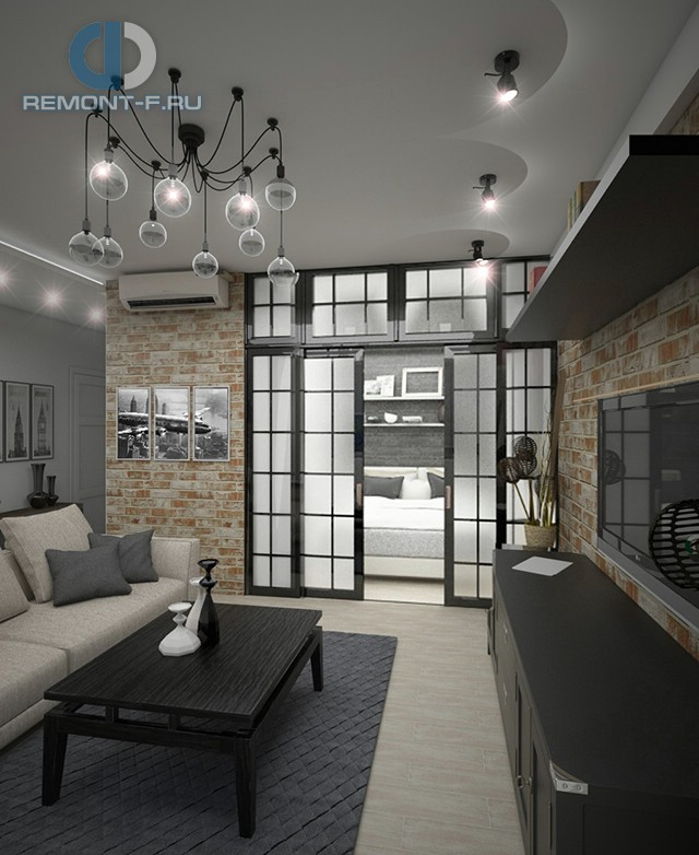 Дизайн однокомнатной квартиры 40 кв. м. Как разделить на две зоны?
