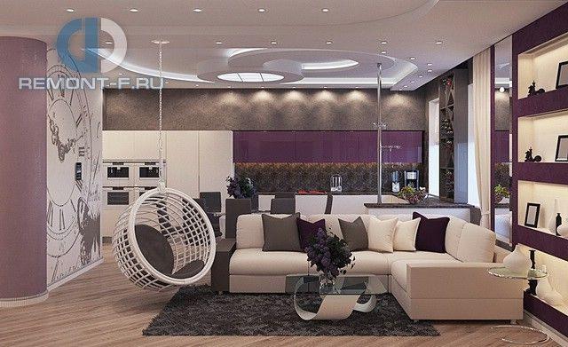 Дизайн кухни-гостиной. 25 фото с зонированием