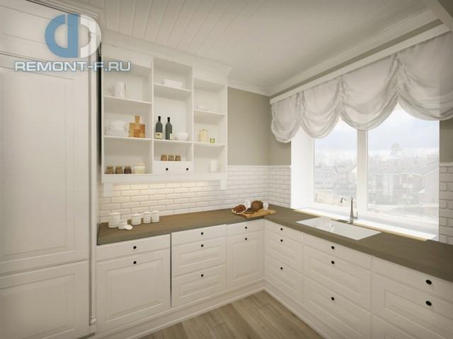 Дизайн белой угловой кухни 9 кв. м. Фото интерьера 2016