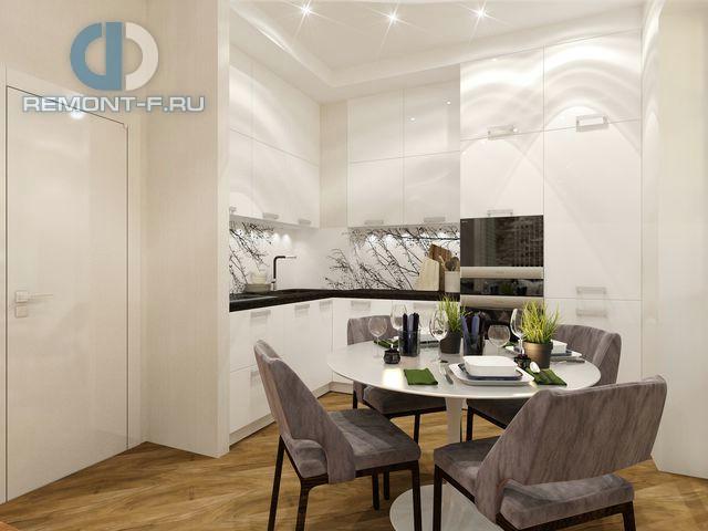 Дизайн белой кухни в стиле минимализм