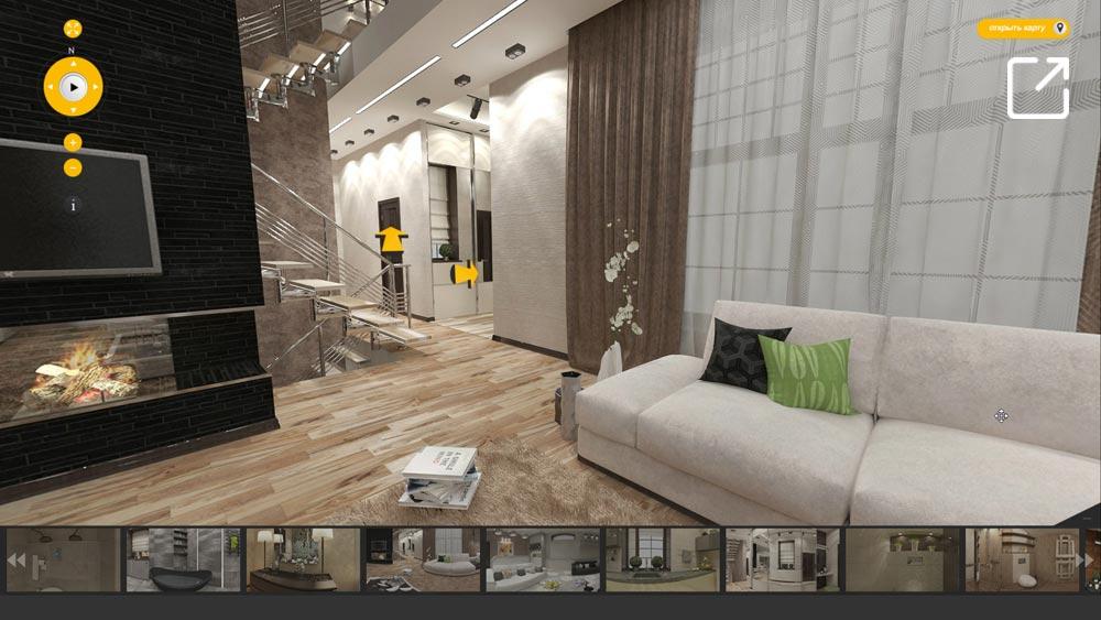 Дизайн интерьера загородного дома в современном стиле в 3d – Лужки