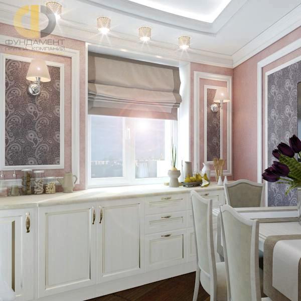 Дизайн кухни 9 кв. м в светлых тонах. Фото интерьера 2016
