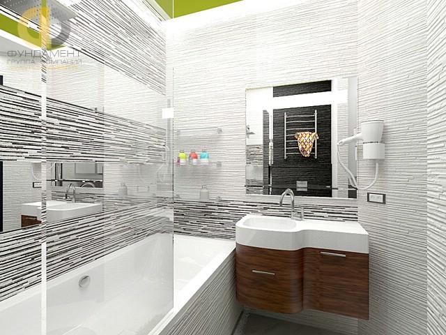 Современные идеи в дизайне ванной комнаты в стиле фьюжн. Фото 2016