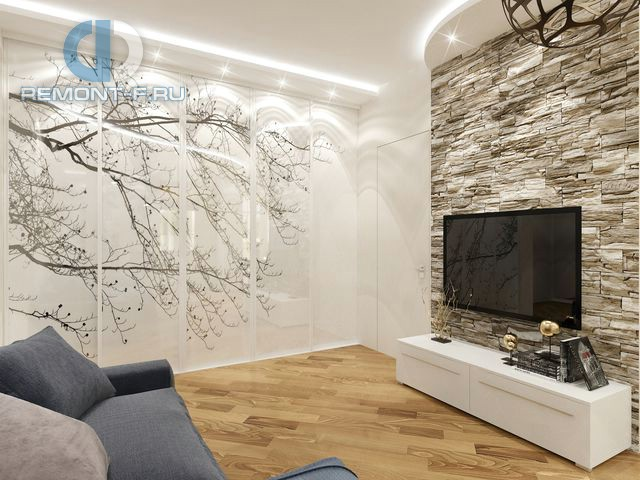 Дизайн ТВ-зоны в интерьере гостиной