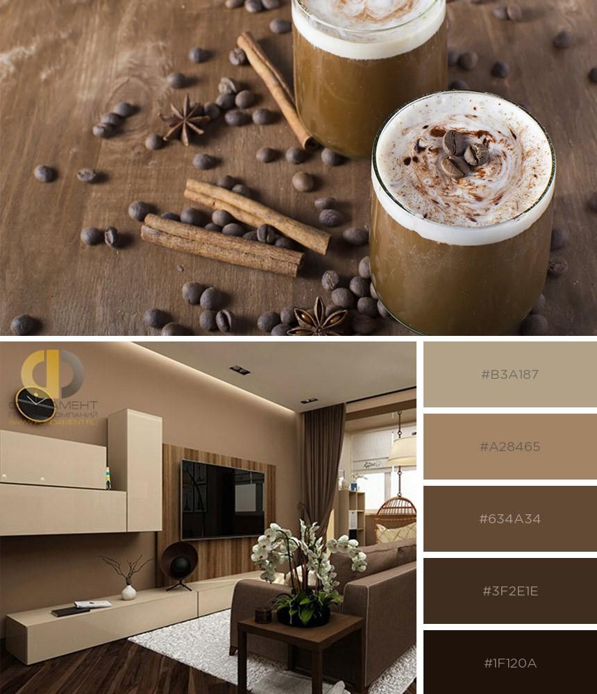 Палитра кофе с молоком в дизайне квартир