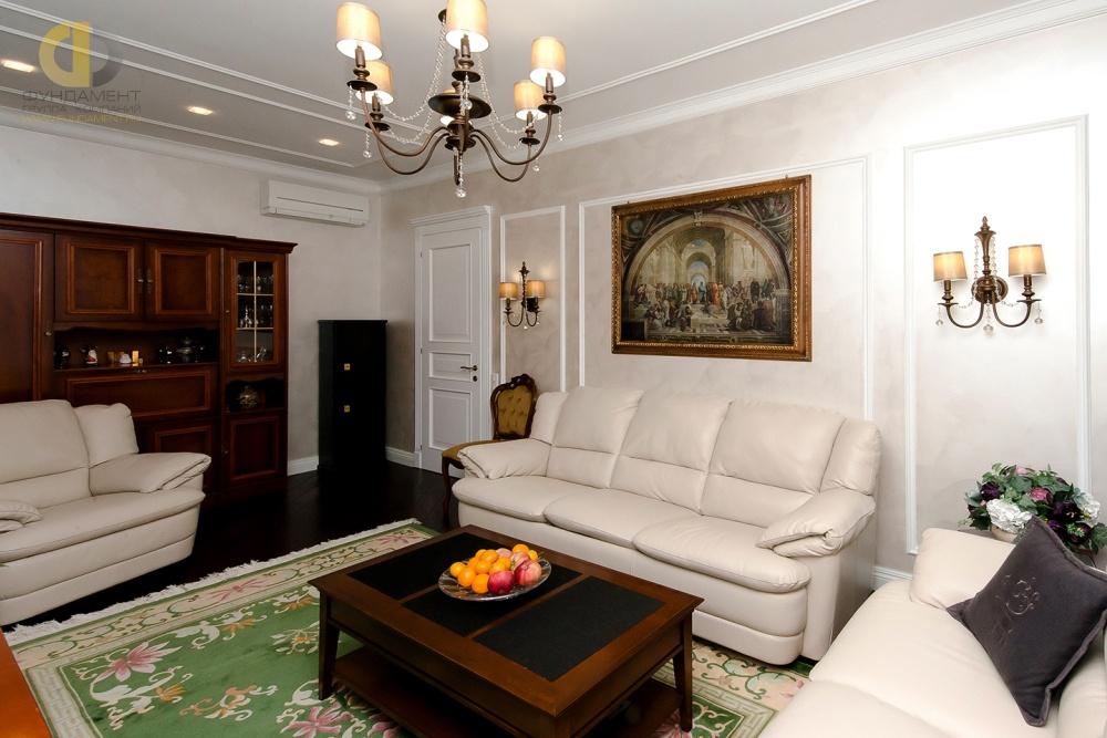 Красивые квартиры. Фото интерьера гостиной в классическом стиле