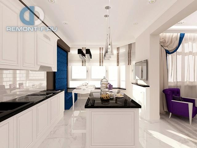 Дизайн белой кухни в современном стиле. Фото 2017