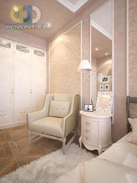 Интерьер спальни в кремовых тонах с элементами прованса