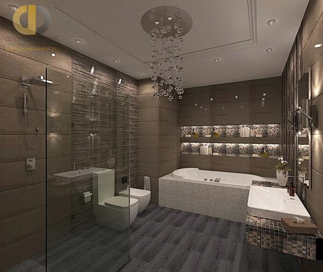 Современные идеи в дизайне стильной ванной комнаты. Фото 2016