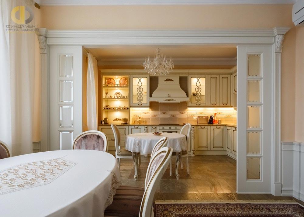 Красивый ремонт кухни в стиле неоклассика