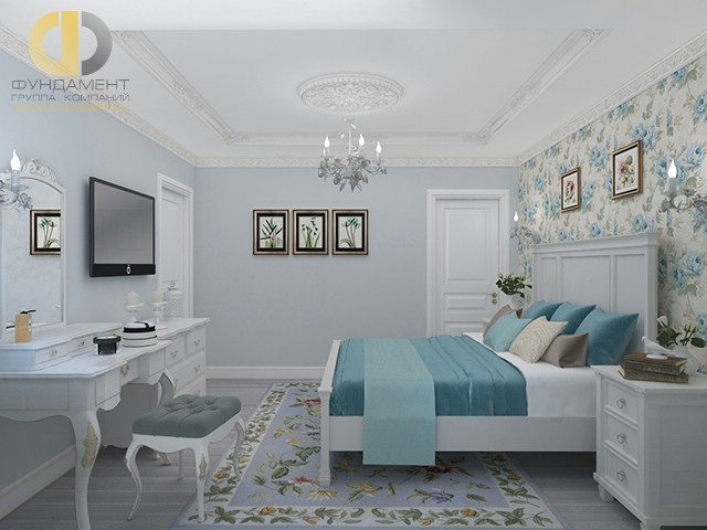 Современные идеи в дизайне классической спальни. Фото 2016