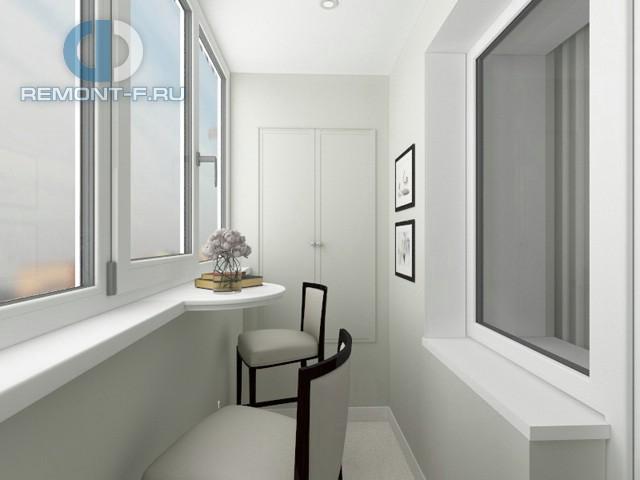 Отделка балкона под ключ в стиле минимализм. Фото после ремонта