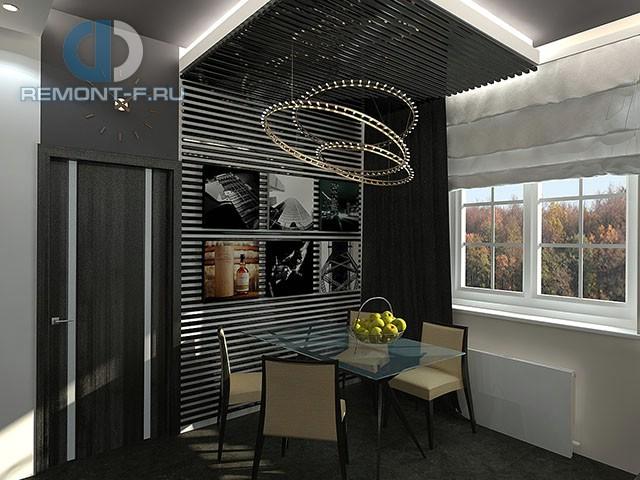 Дизайн кухни 9 кв. м в стиле хай-тек. Фото интерьера 2016