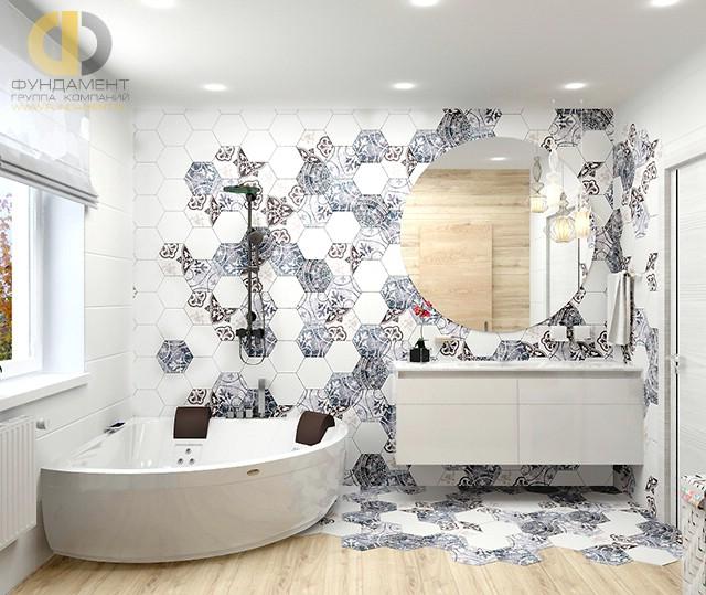 Отделка ванной комнаты плиткой: фото. Дизайн ванной с плиткой ромбами