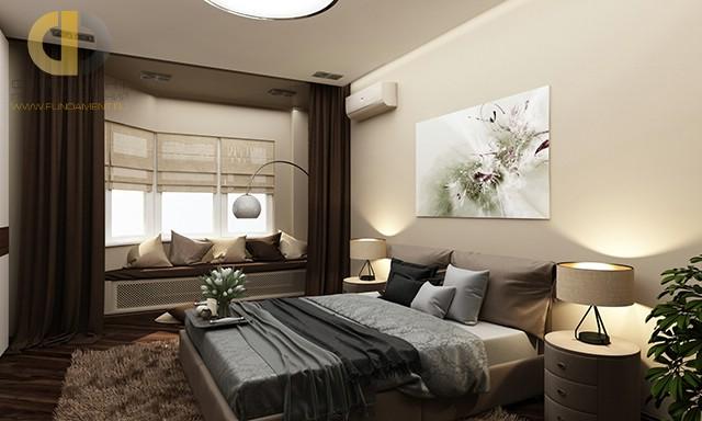 Современные идеи в дизайне спальни с мягкой скамьей. Фото 2016