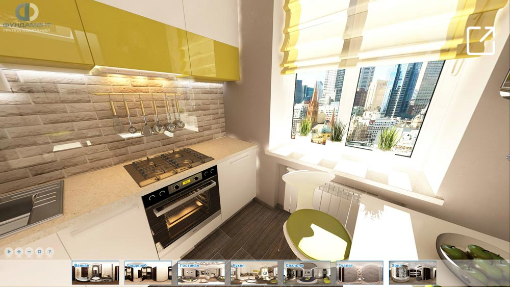 Дизайн интерьера квартиры в 3d современный стиль – ул. Алабяна