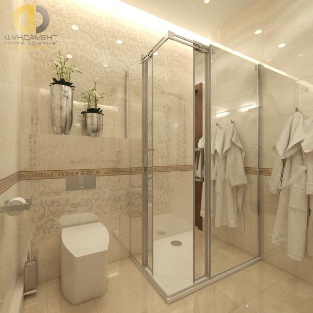 Отделка ванной комнаты плиткой: фото. Дизайн ванной в бежевых тонах