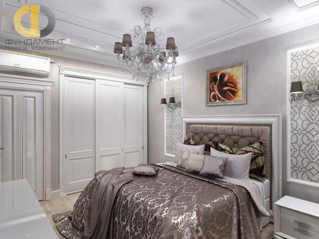 Современные идеи в дизайне спальни со встроенным шкафом. Фото 2016