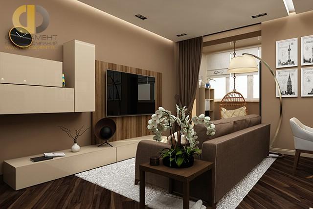 Дизайн четырехкомнатной квартиры в бежевых тонах на ул. Веерная