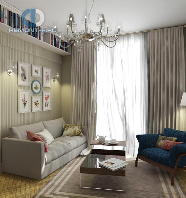 Интерьер 3-комнатной квартиры в Малом Тишинском переулке