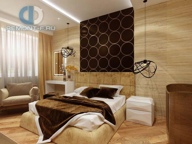 Дизайн спальни с тростниковыми обоями