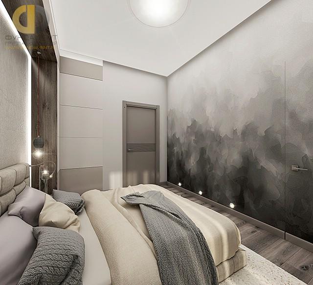 Современные идеи в дизайне спальни в серых тонах. Фото 2017