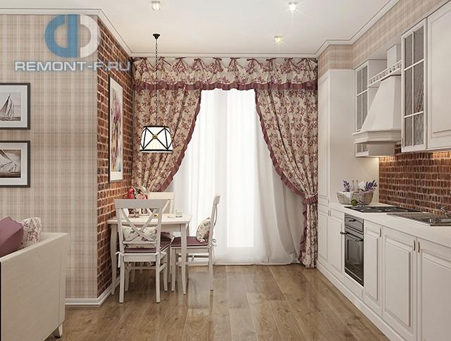 Дизайн кухни 9 кв. м в стиле прованс. Фото интерьера 2016
