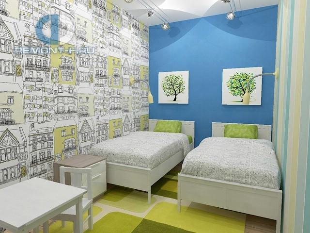 Дизайн детской комнаты в однокомнатной квартире. Фото интерьера