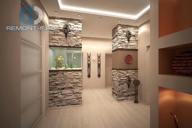 Колониальные мотивы в интерьере 3-комнатной квартиры на ул. Новочеремушкинской