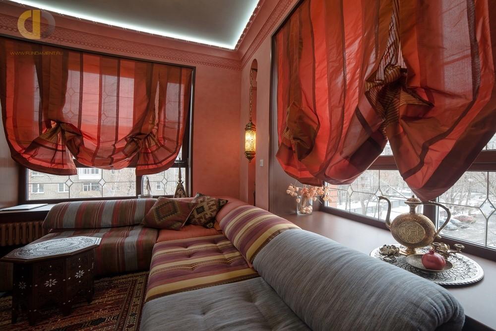Дизайн интерьера гостиной в восточном стиле