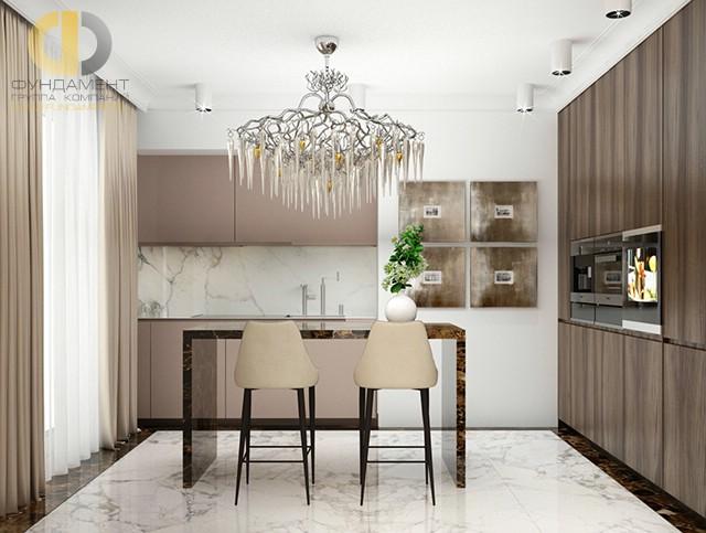 Дизайн кухни 9 кв. м с угловой планировкой. Фото интерьера 2016