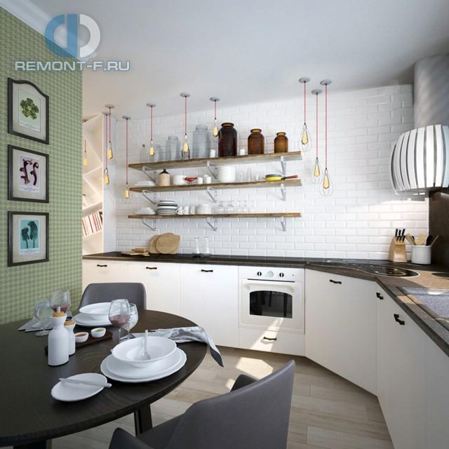 Дизайн кухни 10 кв. м без верхних шкафов. Фото новинок 2016