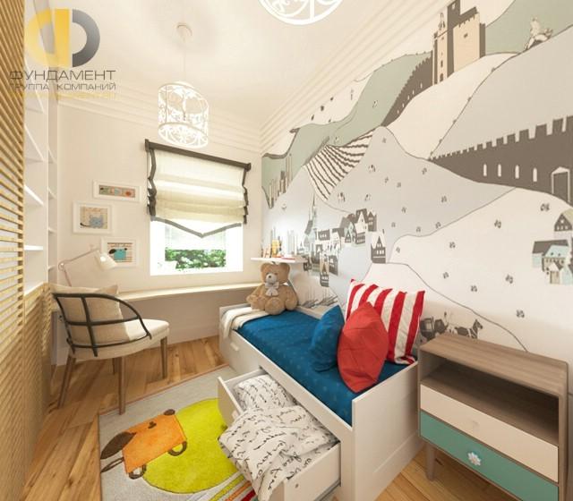 Скандинавский стиль в дизайне деткой комнаты