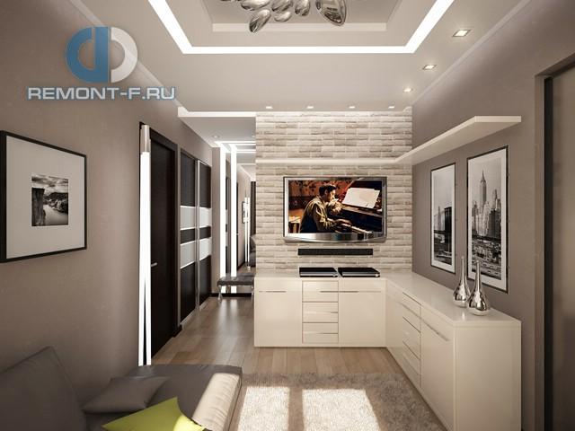 Дизайн минималистичной гостиной