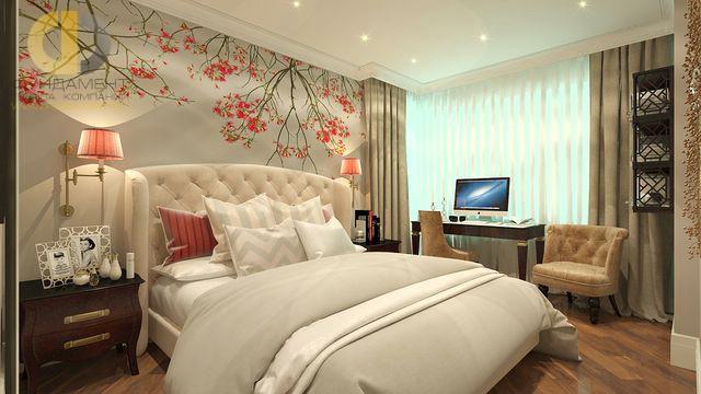Современные идеи в дизайне спальни с фотообоями. Фото 2016
