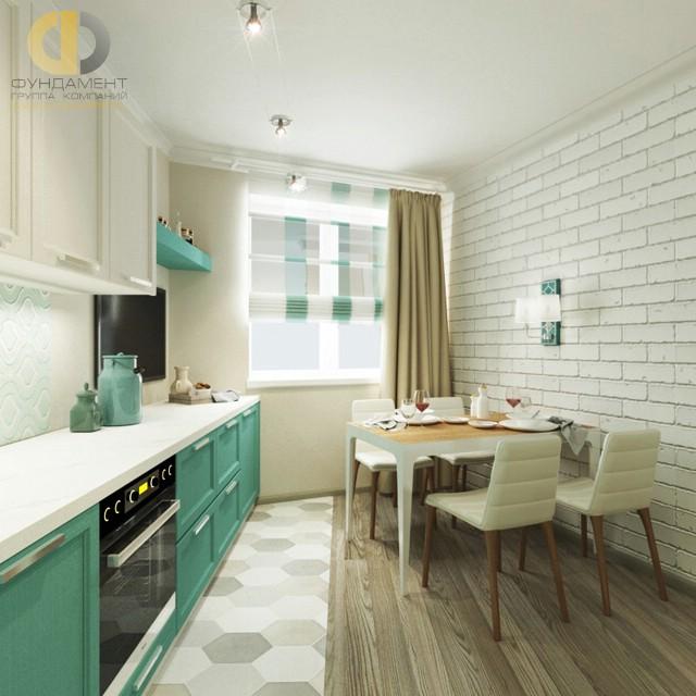 Дизайн кухни 10 кв. м с кирпичной стеной. Фото новинок 2016