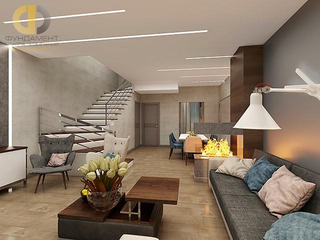 Дизайн гостиной с камином: современные идеи. Фото дома