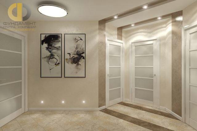 Трехкомнатная квартира в современном стиле на ул. Мельникова