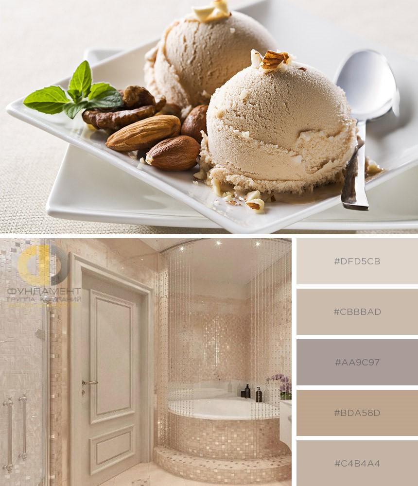 Приятные кремовые тона с нотками ванили в интерьере квартиры