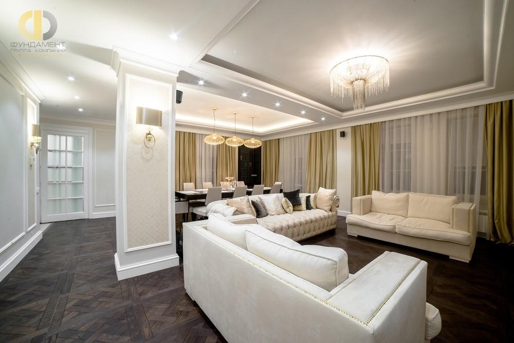 Трендовый ремонт гостиной в Москве