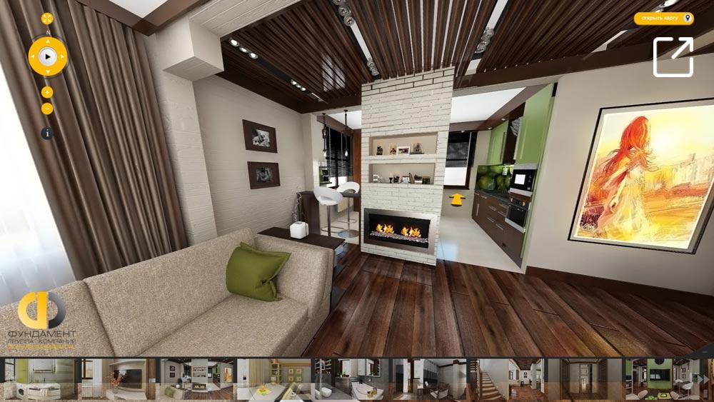 Дизайн интерьера дома в скандинавском стиле в 3d – КП «Соколово»