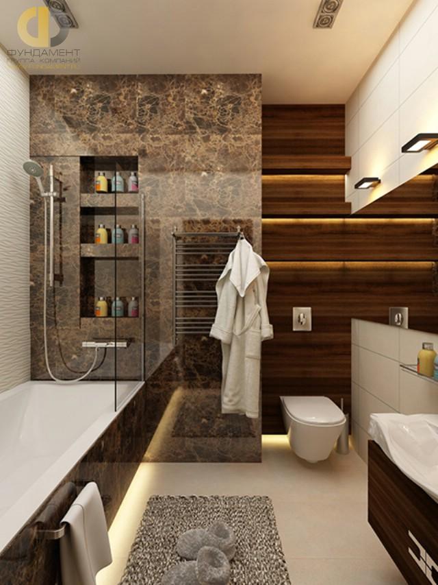 Современные идеи в дизайне ванной комнаты с LED-подсветкой. Фото 2016