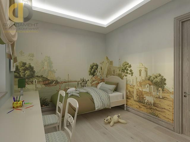 Дизайн детской комнаты для девочки. Фото в стиле неоклассика