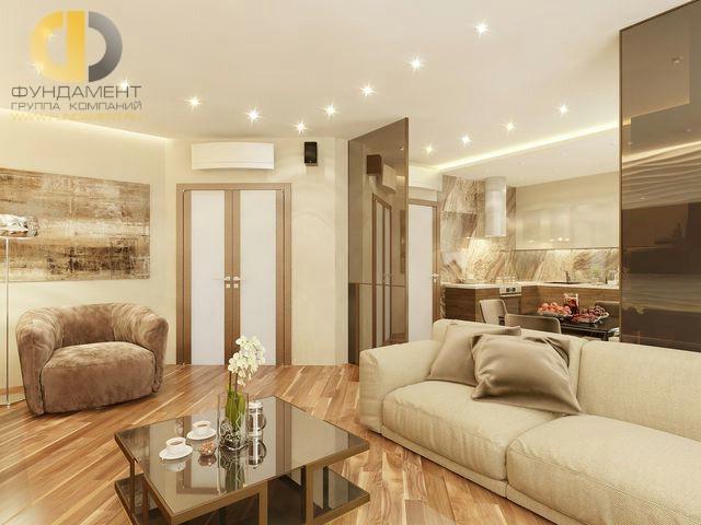 Интерьер 2-комнатной квартиры в современном стиле на Мосфильмовской