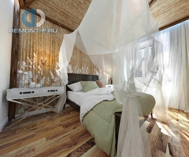 Спальня в стиле бунгало в 4-комнатной квартире на Маломосковской